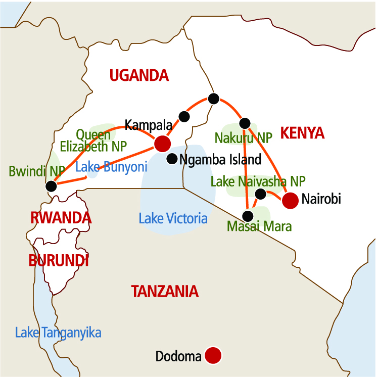 Masai Mara i Goryle
